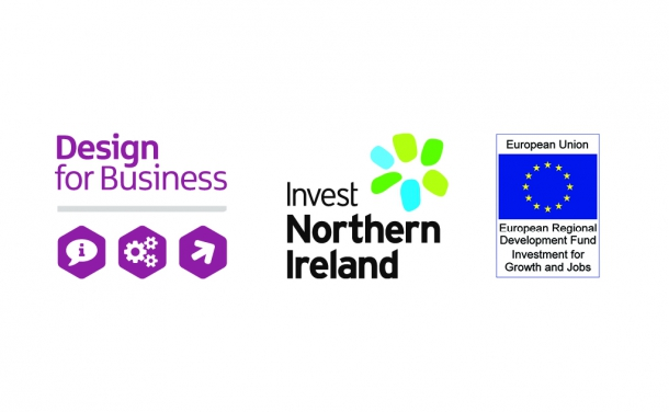 The Design for Business Programme is part funded by ERDF and administered by Invest NI