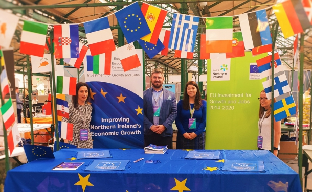 The ERDF stand at the NI Chamber Annual Networking Conference and Business Showcase